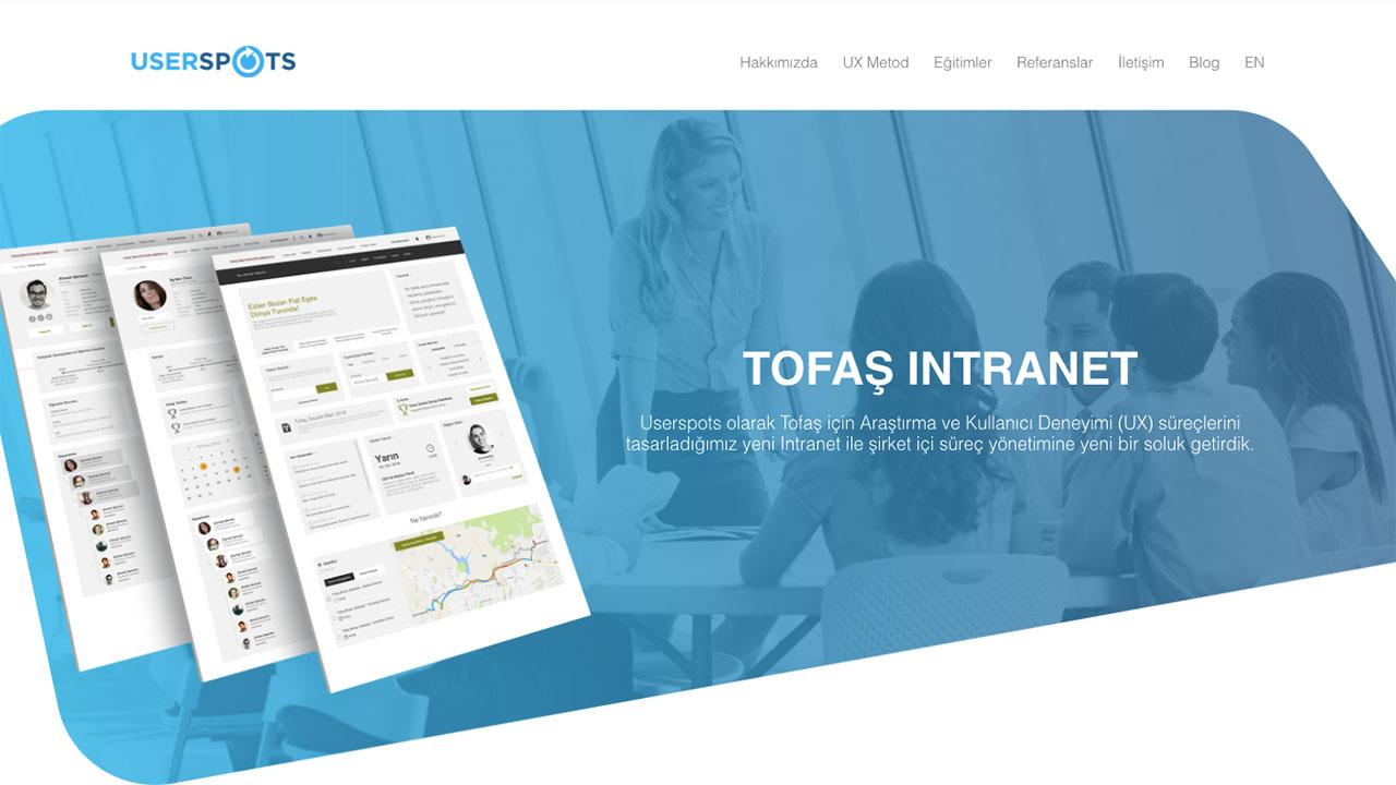 tofaş case study homepage screen